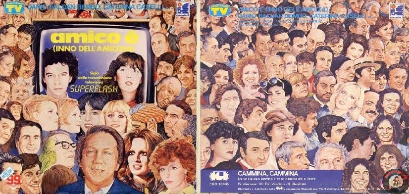 """Disco sencillo de """"Amico è"""", de 1982."""