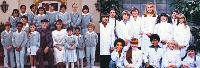 """A la izq.:""""Carrusel"""", de 1989. A la der.: """"Señorita Maestra"""", de 1983."""