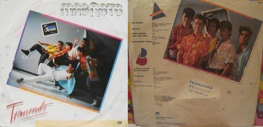 """""""Tremendo"""", álbum de 1986 que incluyó """"Un amigo es""""."""
