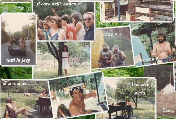 """Algunas fotos de la grabación del álbum """"Spirito della terra"""", en 1982."""