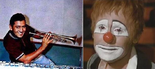 """Izq.: Tito Chicoma en uno de sus discos. Der.: Raphael interpreta """"Balada de trompeta"""" en la película """"Sin un adiós"""" (1970)."""