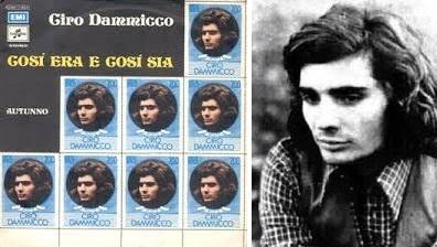 """Izq: Disco sencillo de """"Così era, così sia"""" (1972). Der.: Su autor, Ciro Dammicco."""