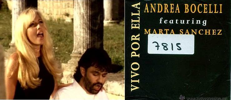 """Izq.: Videoclip de """"Vivo por ella"""". Der.: CD promocional de 1995."""