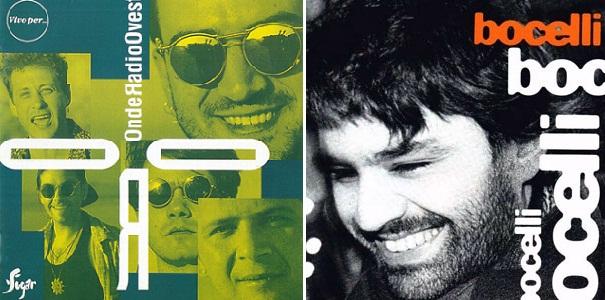 """Izq.: """"Vivo per..."""", álbum de O.R.O. de 1995. Der.: """"Bocelli"""", álbum de Andrea Bocelli que incluyó la nueva versión."""
