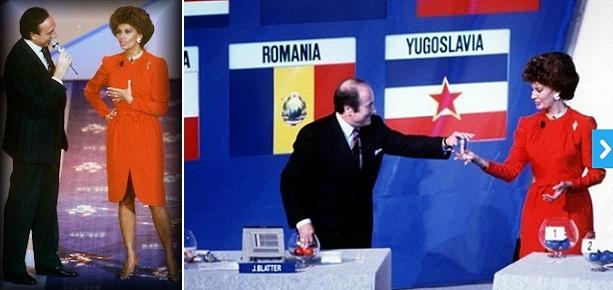 Sophia Loren durante el sorteo de Italia 90. (Fifa.com)