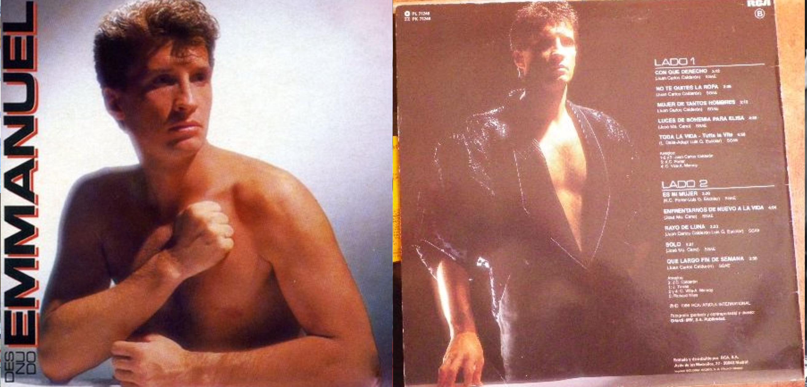 """""""Desnudo"""", álbum de 1986 que incluyó """"Toda la vida""""."""