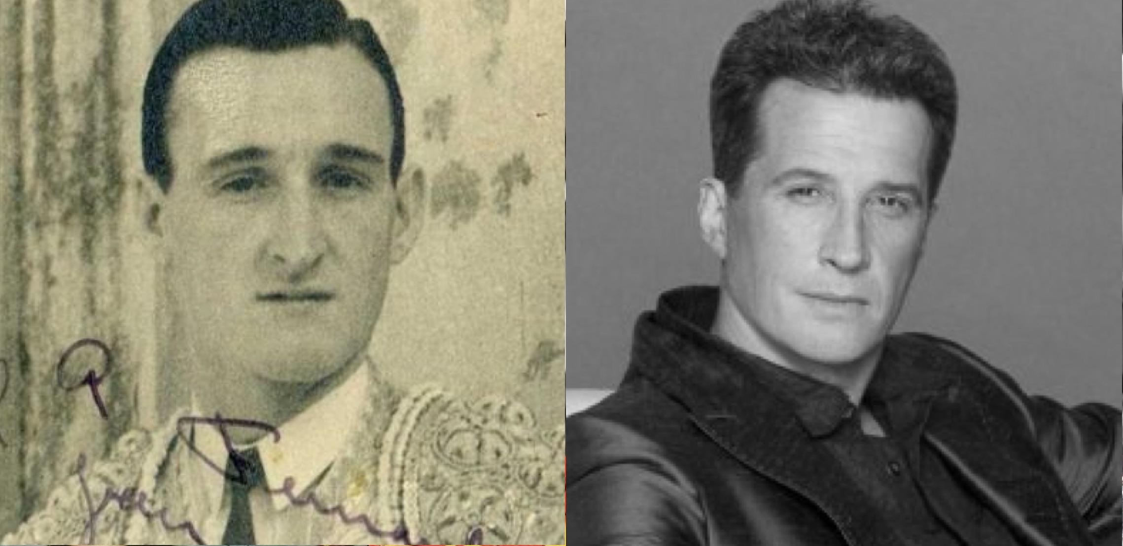"Padre e hijo. El torero Raúl ""Rovira"" Acha y el cantante Emmanuel."