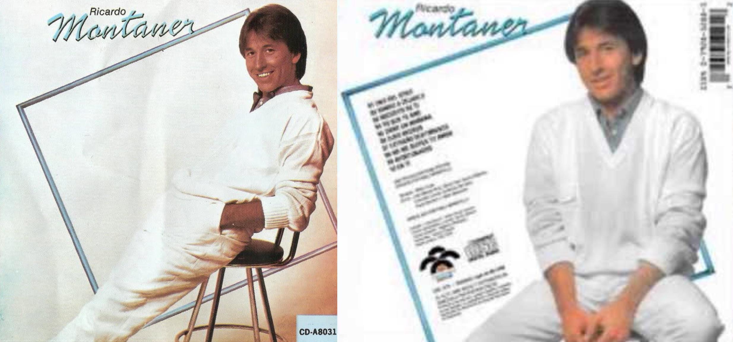 """""""Ricardo Montaner"""", álbum de 1987 que incluyó """"Ojos negros""""."""