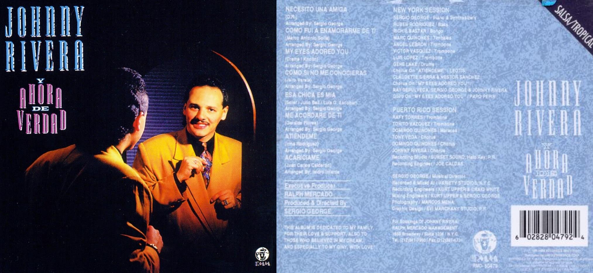 """""""Y ahora de verdad"""", álbum de 1991 que incluyó """"Necesito una amiga""""."""