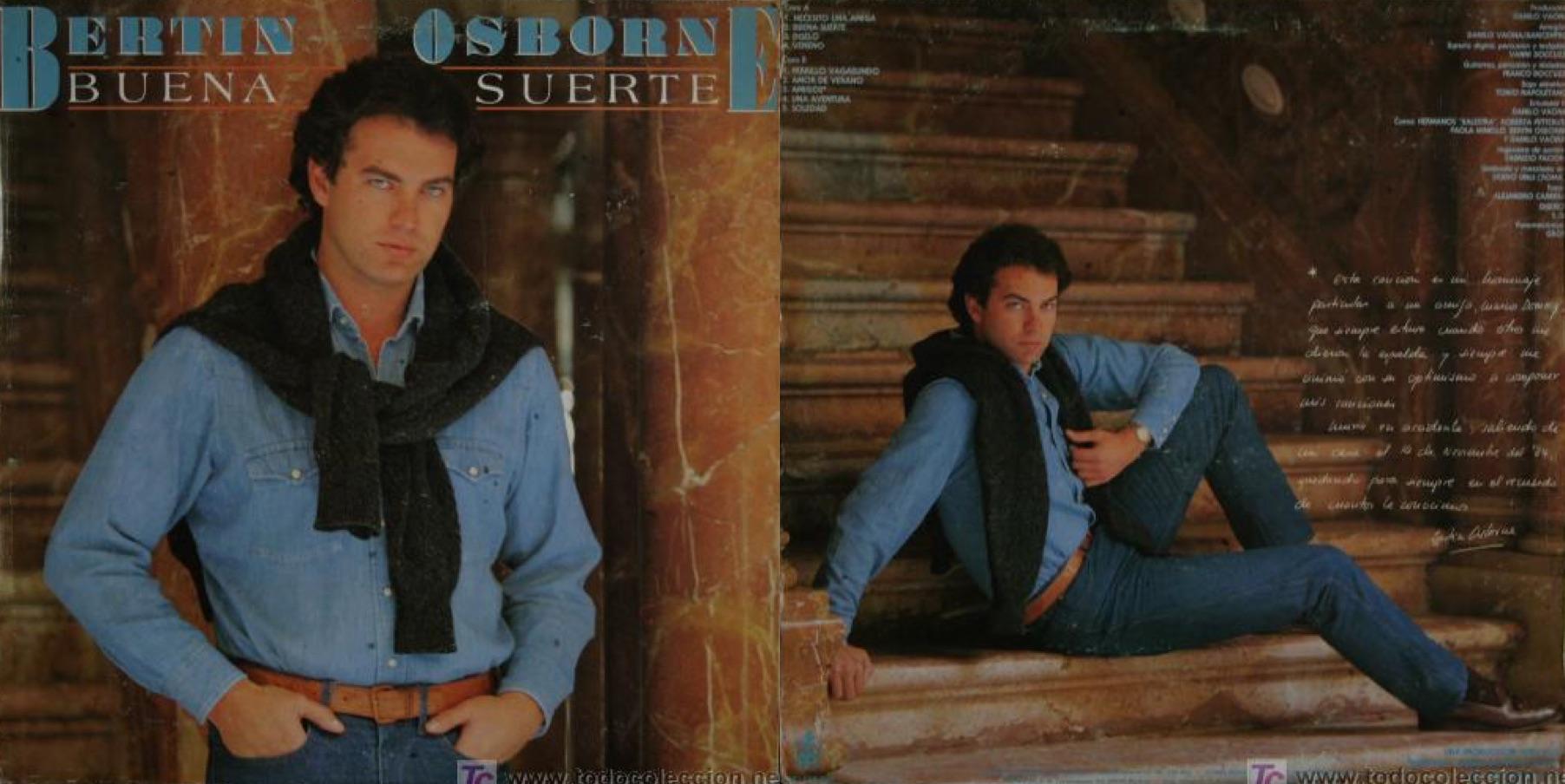 """""""Buena suerte"""", álbum de 1985 que incluyó """"Necesito una amiga""""."""