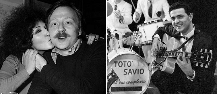 """Giancarlo Bigazzi (izq.) y """"Totò"""" Savio (der.), los autores de """"Un gatto nel blu"""". (Fotos: Agencia Olycom / Discog.com)"""