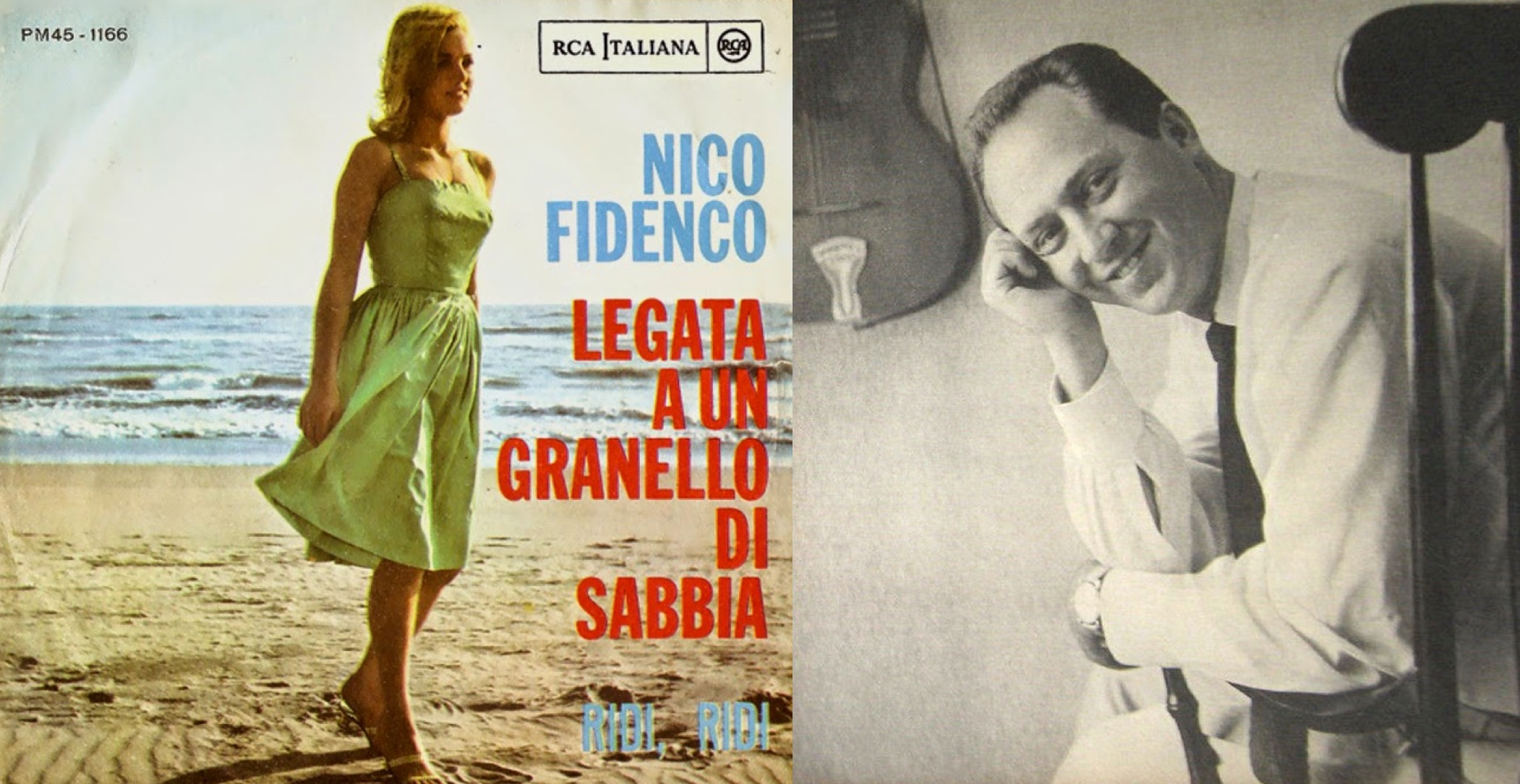 (Izq.) Disco sencillo de 1961. (Der.) El cantautor italiano Nico Fidenco.