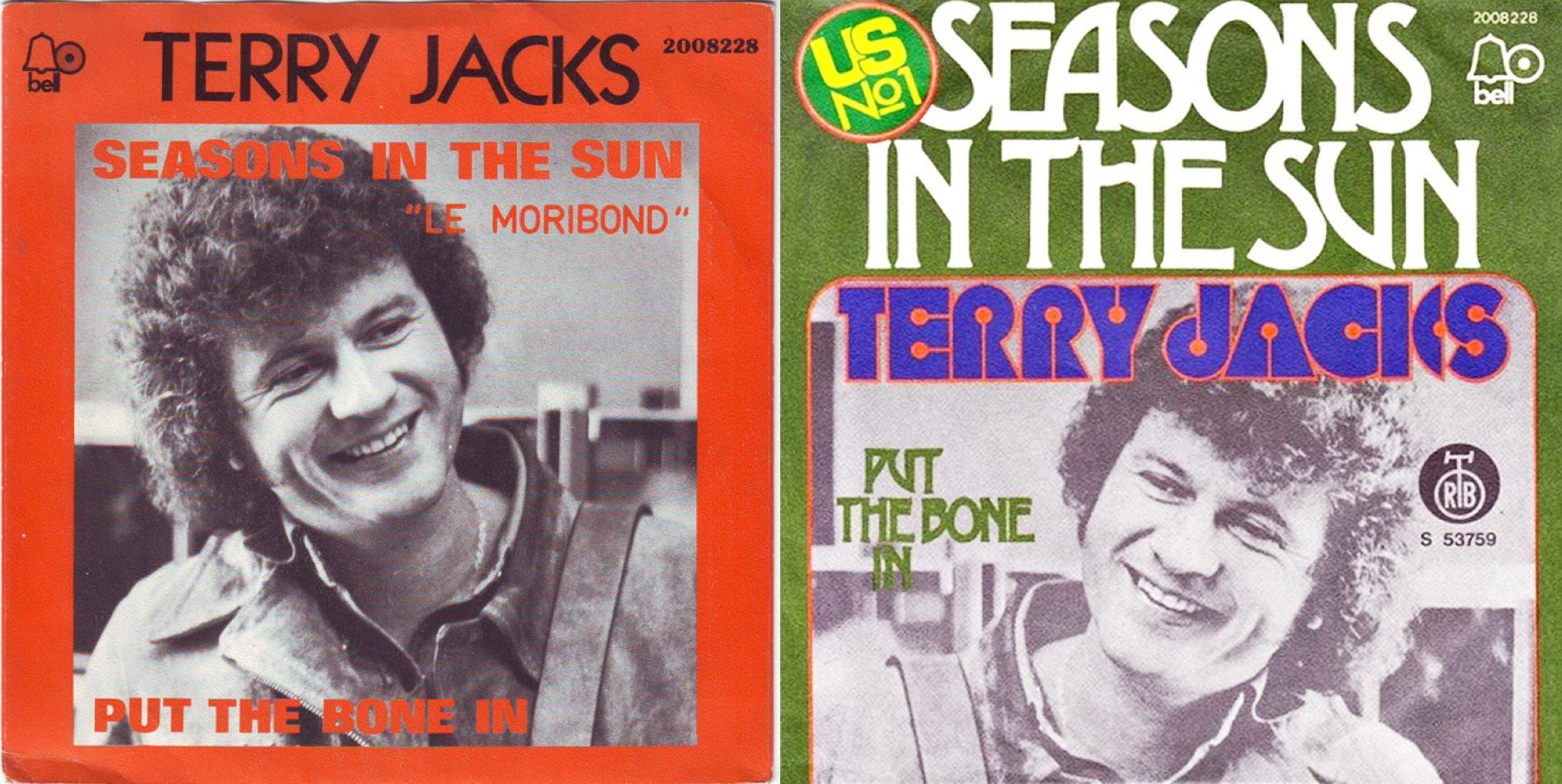 """Discos sencillos de """"Seasons in the Sun"""", de 1973."""