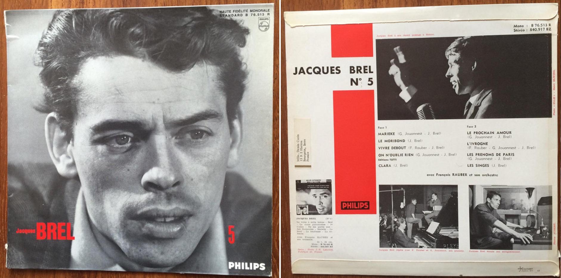 """""""N° 5"""", álbum de Jacques Brel de 1961."""