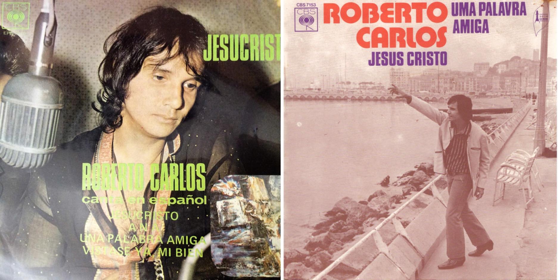 """Discos sencillos de """"Jesús Cristo"""" en español y portugués."""