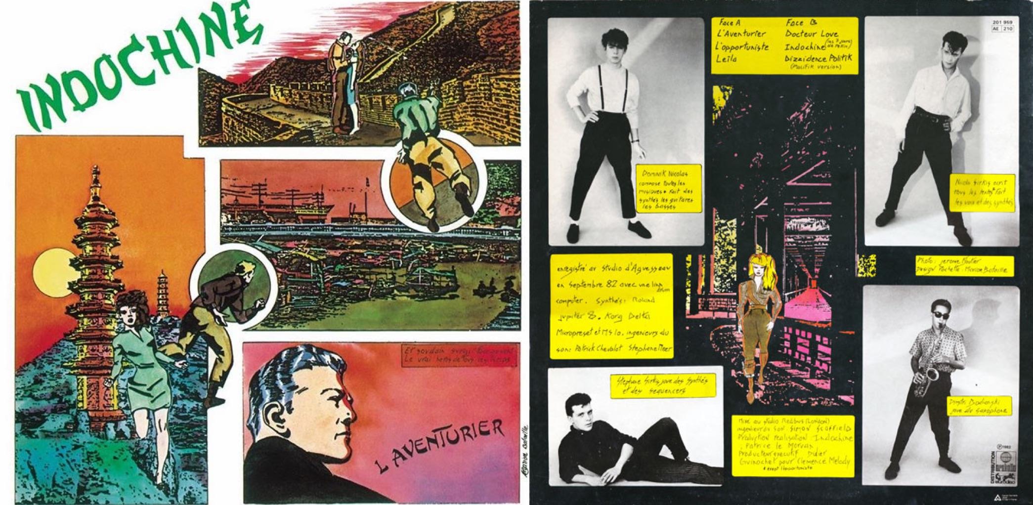 """""""L'aventurier"""", álbum lanzado en 1982."""