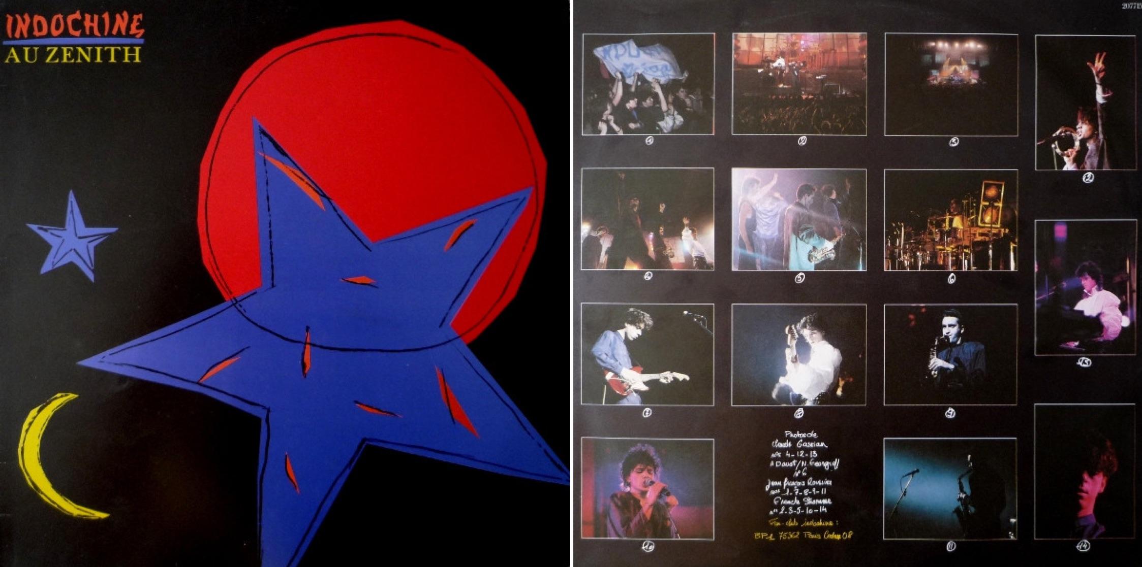 """""""Indochine au Zénith"""", álbum en vivo de 1986."""