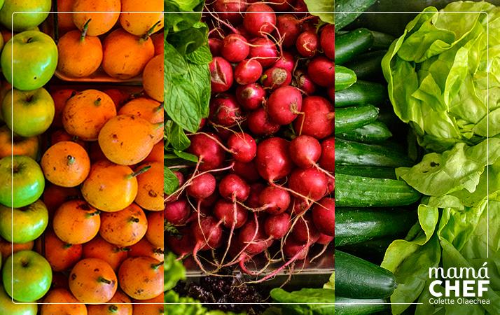 Mamá Chef Colette Olaechea Frutas y Verduras. Mercado de Productores San Isidro, Sr. Julio Vasques Rumay, verduleria Bertila.