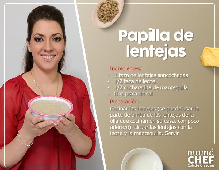 PAPILLA DE LENTEJAS - MAMÁ CHEF - COLETTE OLAECHEA