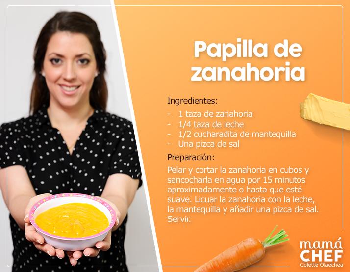 receta de papilla de zanahoria