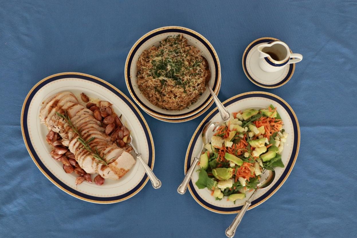 Receta: Lomo de cerdo con risotto de hongos de Porcón y ensalada fresca