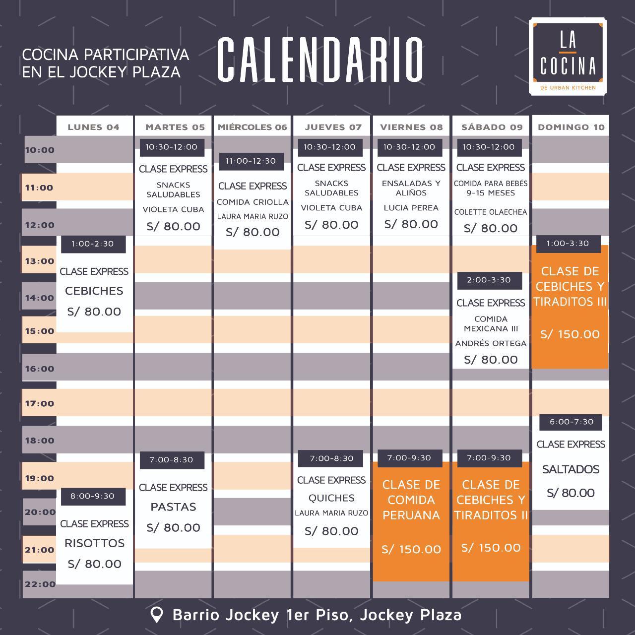 calendario 2 - la cocina de urban kitchen - colette olaechea - mama chef
