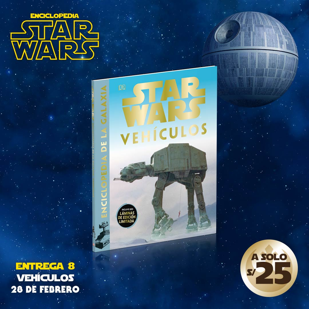 Consigue el tomo VIII de la enciclopedia de Star Wars: Vehículos