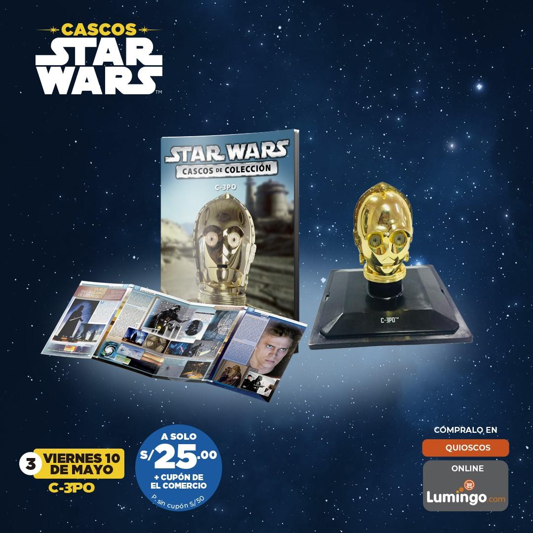 Adquiere los cascos más emblemáticos de Star Wars: C3PO