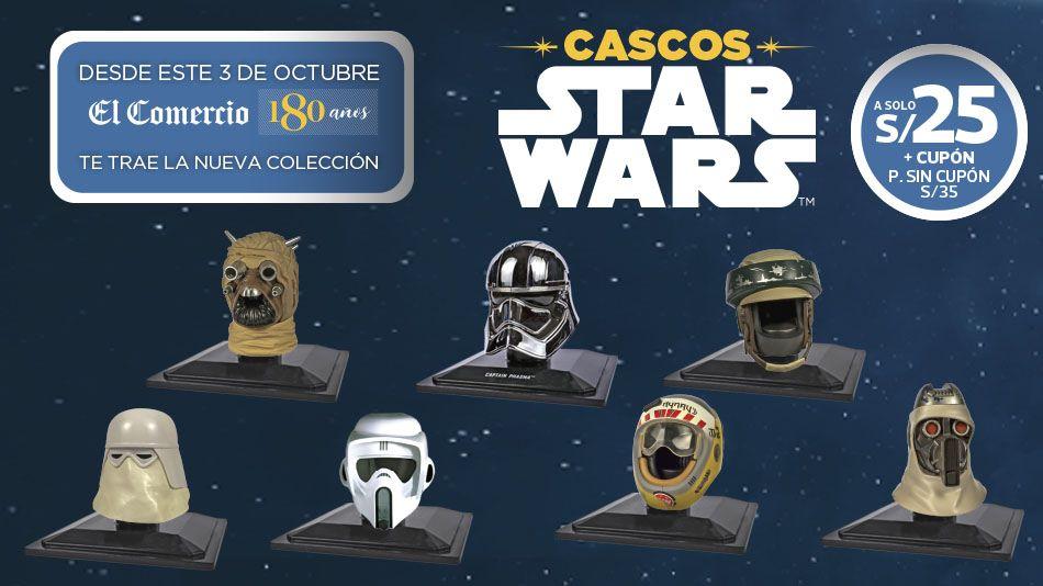 ¡Llegan siete nuevos modelos de la colección Cascos Star Wars!