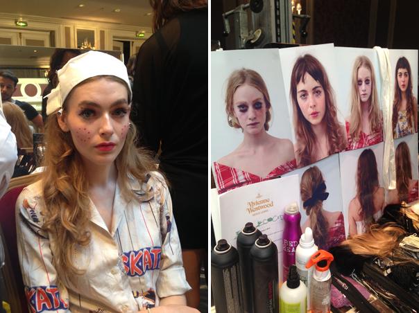 Backstage de Vivienne Westwood Verano 2015