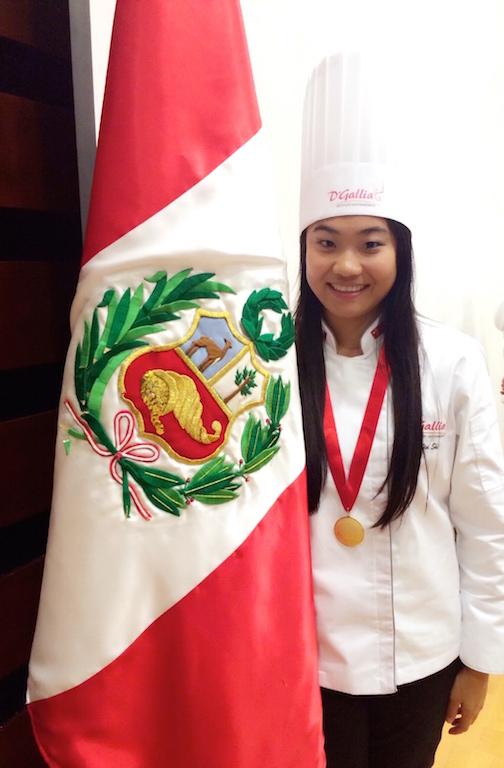 La primera chef china, experta en gastronomía peruana que ha estudiado cocina en el Perú.