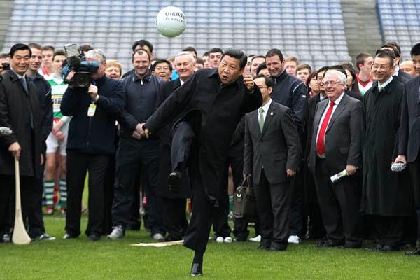 Xi Jinping, el goleador.