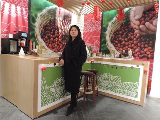 La inversora Huang destaca las potencialidades del café peruano.