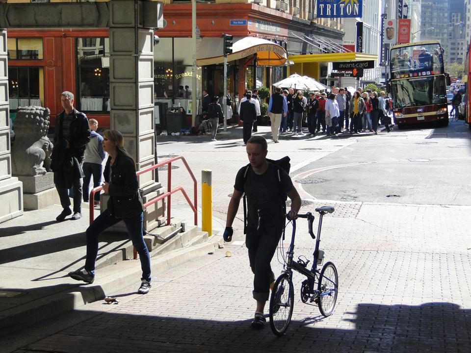 Movilizarse en bici por San Francisco es muy común