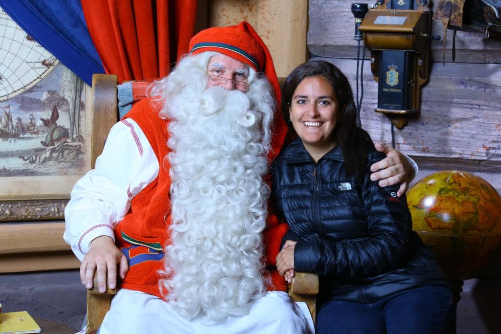 Visitando a Papa Noel, en Laponia, Finlandia